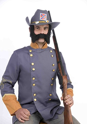 Forum Novelties Men's Novelty Mustache and Sideburns, Black, One (Facial Hair Costumes)