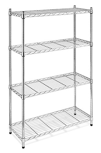 Whitmor Supreme 4-Tier Shelving, Chrome (Four Tier Shelving)