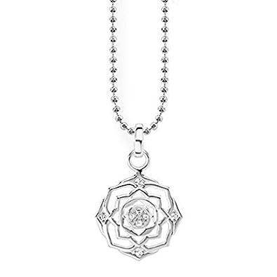 Thomas Sabo Women Silver Pendant Necklace - KE1542-001-12-L45v 4wzOm