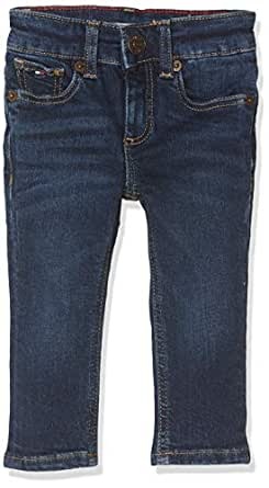 TOMMY HILFIGER Kids Scanton Slim Jean, New York Dark Stretch, 10