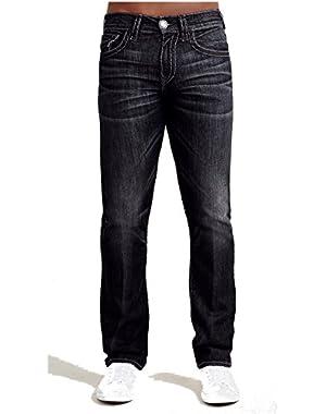 Men's Ricky Straight Leg w/ Flap Super T Jeans in Black Desert