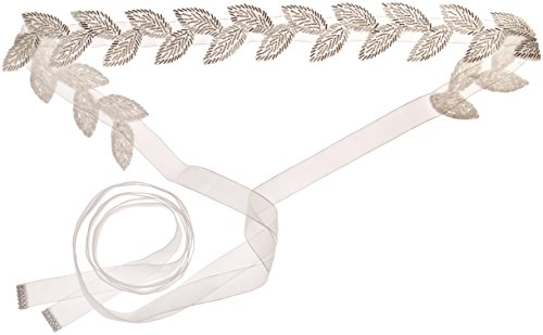 Nina Women's Antea Beaded Leaves Organza Bridal Belt, Ivory, One Size by Nina