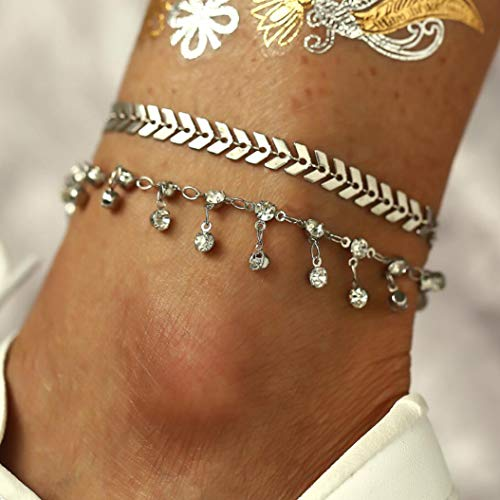 Women Dainty Anklet Silver...