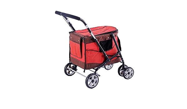 YE Cochecito para Mascotas, Carro Plegable pequeño y Mediano, Carro para Perros, Peso del cojinete 20kg: Amazon.es: Productos para mascotas