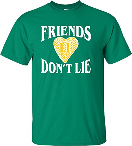 Go All Out YM 10-12 Kelly Green Youth Friends Don't Lie Waffle Heart 11 T-Shirt