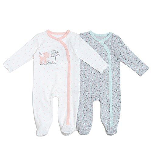 Kyle & Deena Baby Girl 2 Pack Forest Friends Sleeper Set 3-6 M