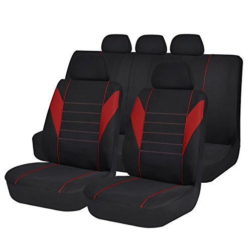 red and black bench seat cover - 7