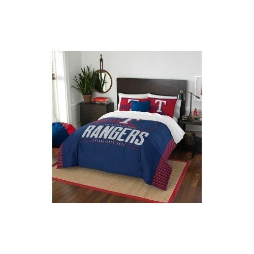 Texas Rangers Bed - The Northwest Company MLB Texas Rangers Grandslam Full/Queen Comforter and 2 Sham Set