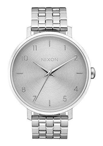 NIXON Arrow A1091 - All Silver - 51M Water Resistant Women's Analog Classic Watch (38mm Watch Face, 17.5mm Stainless Steel Band)