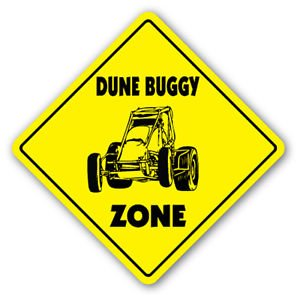 DUNE BUGGY ZONE Sign Decal novelty gift racing desert sand rails bugy racer go ()