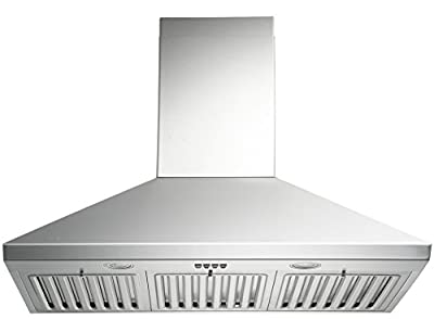 KOBE Range Hoods 3-Speed 750 CFM Stainless Steel Brillia Wall Mount Range Hood