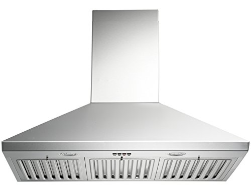 Oven Trading Corp (KOBE CHX8130SQB-1 Brillia 30-inch Wall Mount Range Hood, 3-Speed, 750 CFM, Fits Ceiling Height 7.5'-8.5')