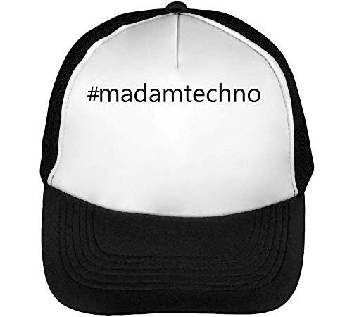 #Madamtechno Gorras Hombre Snapback Beisbol Negro Blanco