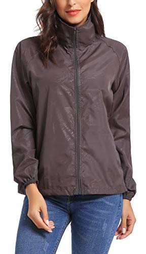 iClosam Women Lightweight UV Protect Windbreaker Jacket Active Outdoor Packable Thin Coat by iClosam