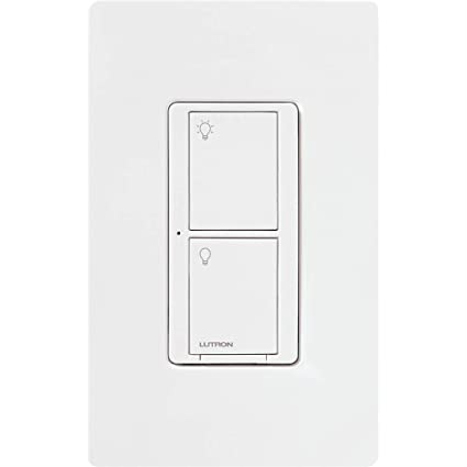 Light Switch Types >> Lutron Caseta Wireless Smart Lighting Switch For All Bulb Types And Fans With Wallplate 5a Led 600w Incandescent Halogen Pdw 5ans Wh A White