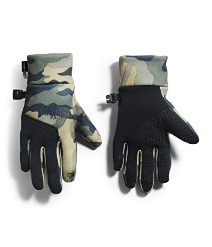 The North Face Youth Etip Glove, Burnt Olive Green Woods Camo Print, S