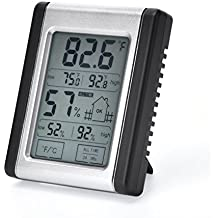 Digital Hygrometer Thermometer Humidity Temperature Monitor Portable Indoor Outdoor with ℃/℉ switch, MIN/ MAX Records, for Home, Babyroom, Greenhouse, Office, Basement, Guitar Room, etc (Mini)