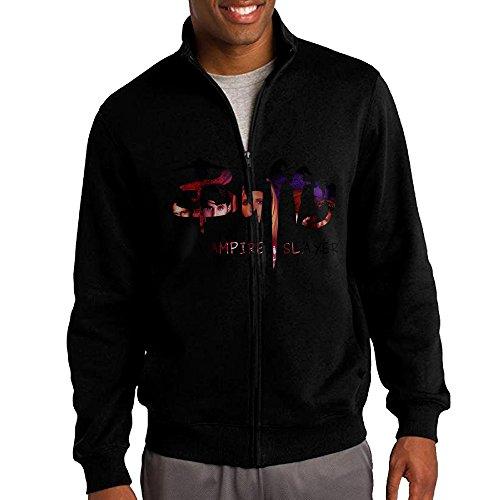 [ILKU Men's Buffy The Vampire Slayer Full Zip Sweatshirt Jackets Black Size XL] (Buffy The Vampire Slayer Movie Costume)