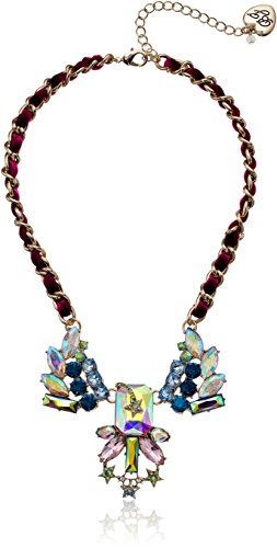 Betsey Johnson Star and Stone Cluster Multi-Frontal Necklace
