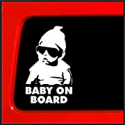 Baby on Board Sticker - Carlos Hangover funny car vinyl sticker/decal for car truck laptop