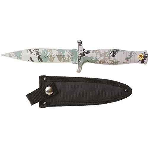 Maxam SKFB9DC Rampant Fixed Blade Digital Camo Coated Hunting Knife