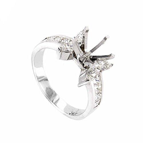 Diamond Mounting Gold (Natalie K 18K White Gold Diamond Mounting Ring SM8-12093)