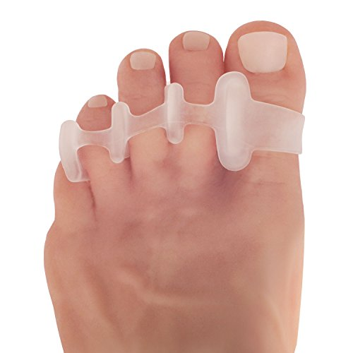 Dr. Fredericks Original Deluxe Toe Spreaders - 2 Pieces - Gel Toe Separators for Pain Relief - Temporary Bunion Corrector - Hammer Toe - Claw Toes - Corns - Free Size