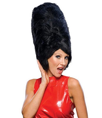 Retro 60's Really Big Hair Beehive Wig Black -