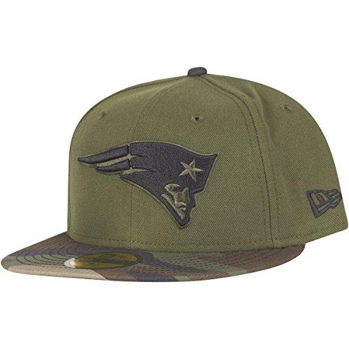 磁気共感する石ニューエラ (New Era) 59フィフティ キャップ - ニューイングランド?ペイトリオッツ (New England Patriots) ウッド カモフラージュ