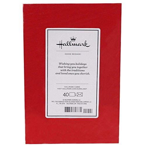 Hallmark Christmas Boxed Cards (Holiday Holly, 40 Christmas Greeting Cards and 40 Envelopes) Photo #4