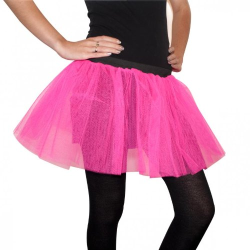 49b82d464b Neon Pink Tutu One Size From 6-14 Fushia Wear It Hot Pink Day 80's:  Amazon.co.uk: Toys & Games