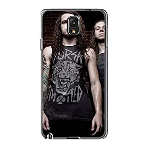 Shock Absorption Cell-phone Hard Cover For Samsung Galaxy Note3 (uKN1611jcEh) Allow Personal Design Beautiful Asking Alexandria Band Image