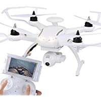 MD Group RC Quadcopter White Drone Double GPS Optical Positioning WIFI FPV With 1080P HD Camera