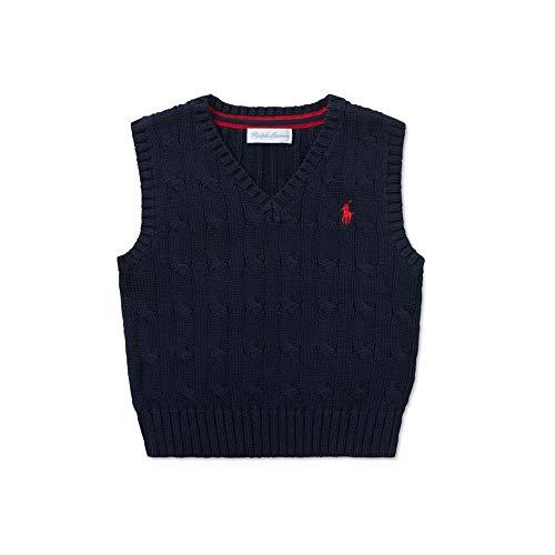 Ralph Lauren Boys Sweater Vest - Polo Ralph Lauren Baby Boys Sweater Vest, 24 Months, Navy