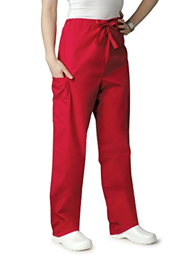[AZ Uniforms Men Women Natural-Rise Drawstring Halloween Costume Party Pants - 504 - Red - M] (Dark Chocolate M&m Costume)