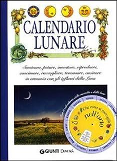 Calendario Lunare 2020 Semine.Amazon It Calendario Lunare 2019 Diario Organizer E Agenda