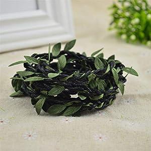 Lerumory 100cm/Lot Artificial Flowers Vine Christmas for Wedding Decor Bridal Accessories Fake Floristics DIY Wreath Gifts Black 74