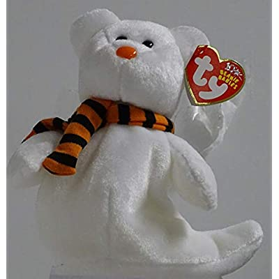 Ty Beanie Babies Quivers - Ghost Bear: Toys & Games