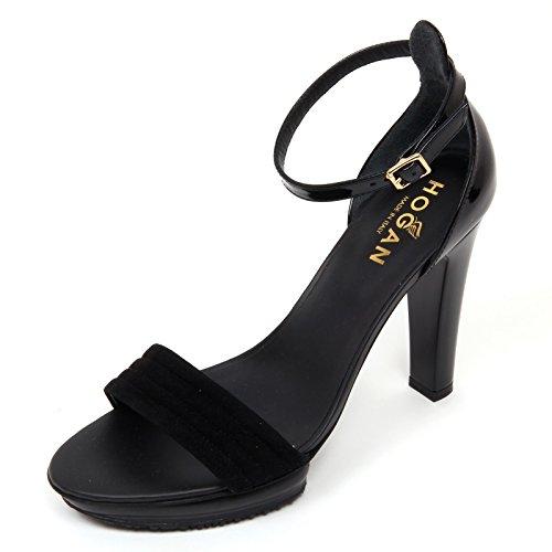Hogan D0566 Sandalo Donna H247 Scarpa Nero Sandal Shoe Woman Nero