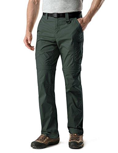 CQR CQ-TXP402-GRN_32W/30L Men's Convertible Pants Zipp Off Stretch Durable UPF 50+ Quick Dry Cargo Shorts Trousers TXP402 by CQR (Image #6)