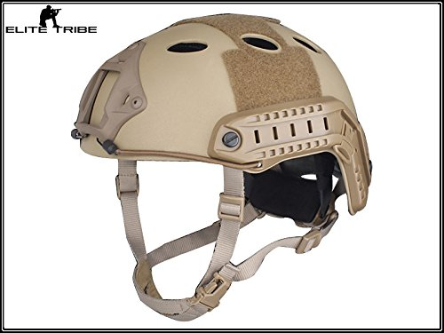 Military Airsoft Paintball Helmet Combat Tactical Carbon Fiber FAST Helmet PJ Type Dark Earth by Paintball Equipment