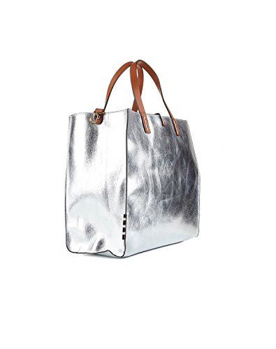 MANILA GRACE Borsa Felicia Bag Medium tote w01318 md592 Grey Reverse ss18