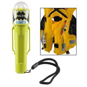 - acr C-Light LED PFD Vest Light with Clip,Velcro Strap, USCG, Solas w/o Batteries Card