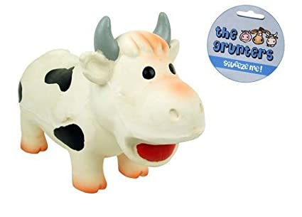 Pet Supplies : (the grunters) Latex Cow Dog Toy : Amazon com