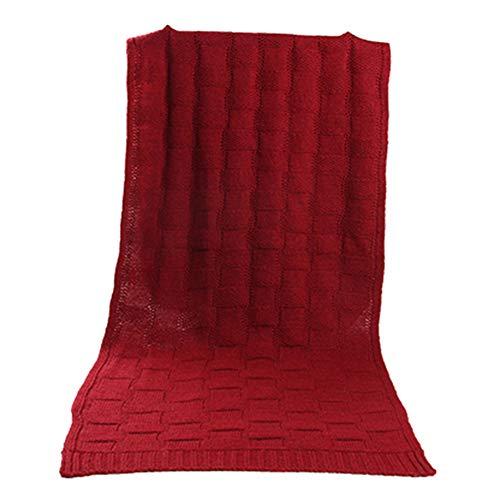 Écharpe 180cm Tricot 40cm Allthemen En Rouge Confortable Chaud Homme OadwH4