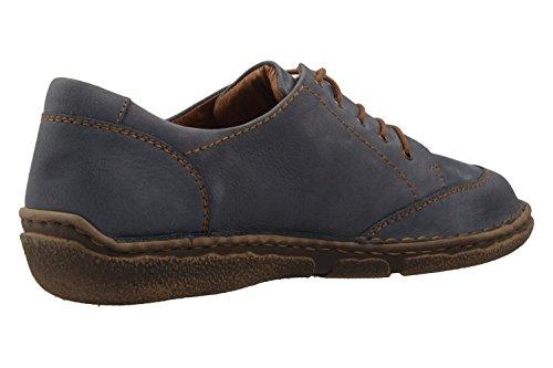 02 Seibel Derby 789 Jeans de para Zapatos Azul Josef Neele Mujer Cordones 540 T6OqnEw