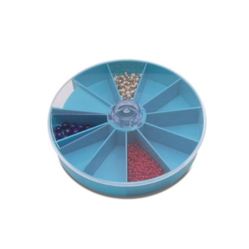 Round Compartment Tray, 10 Extra Deep Compartments