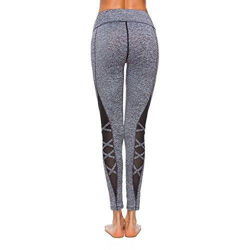 Mei S Polainas de la Mujer de Hilados Neto Cosido Yoga Deporte Pantalones  Stretch Puntos Fitness Leotardos 7d9111d465f6