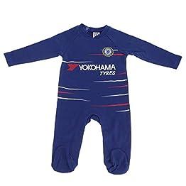 Chelsea FC officiel - Grenouillère thème football - bébé - couleurs domicile/bleu