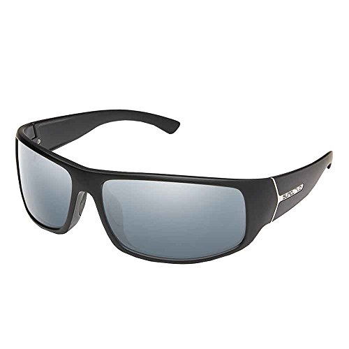 Suncloud Turbine Polarized Sunglasses, Matte Black, Silver - Fishing Glasses Suncloud